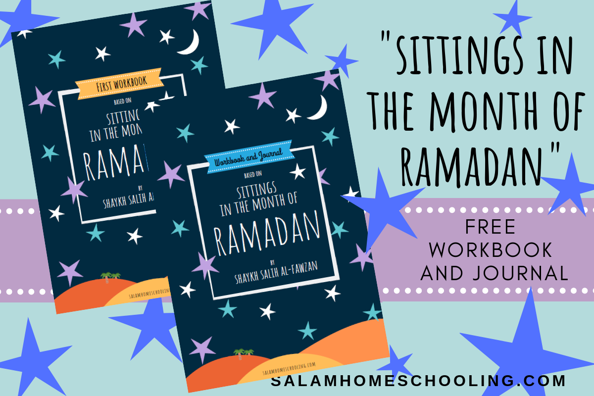 Free Ramadan activity for kids journal workbook printable