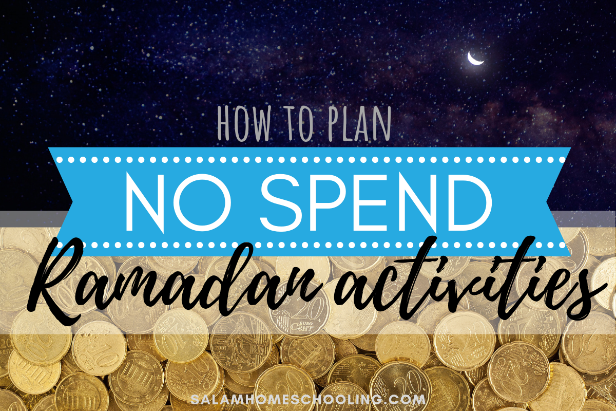 Ramadan activities for childre cheap frugal no spend craft ideas