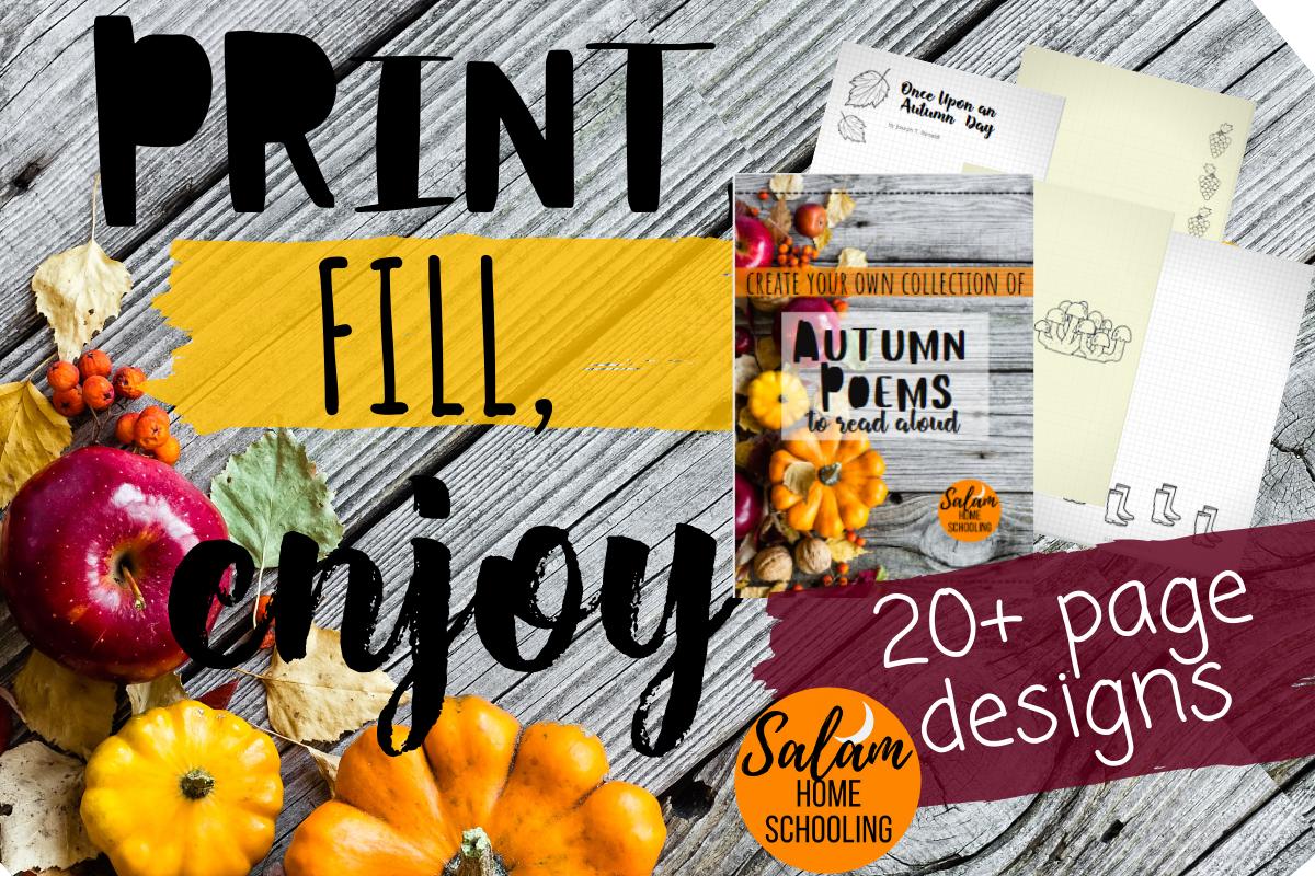 Autumn Fall themed poetry collection for children free pdf printable homeschool
