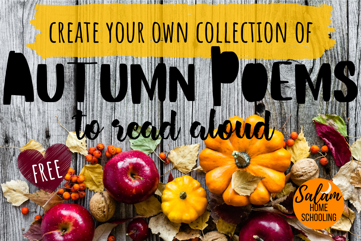 Homeschool poetry teatime autumn poems free printable