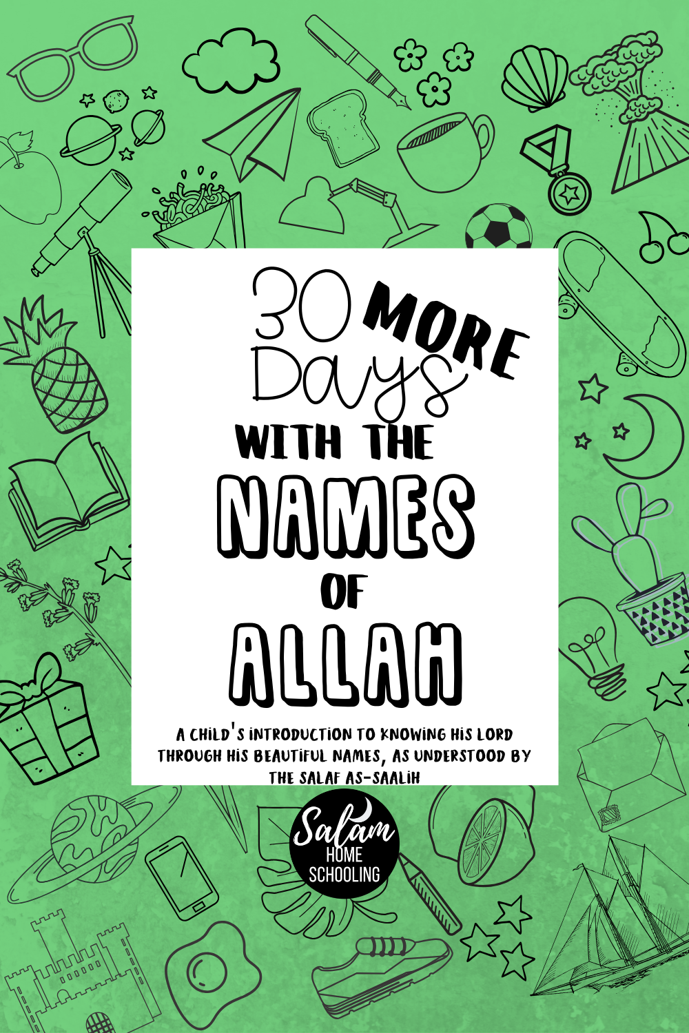Islamic printable workbook names of Allah