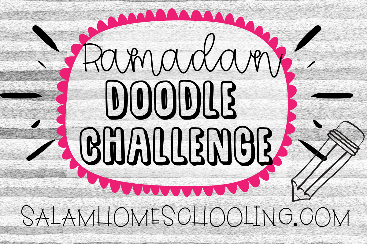 Ramadan doodle challenge free activity for kids