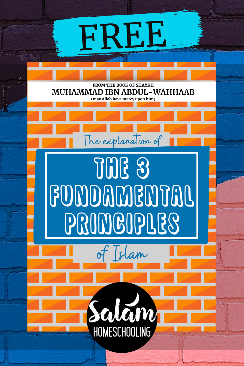 FREE PDF dowload workbook for muslim children Islamic studies Aqeedah 3 principles