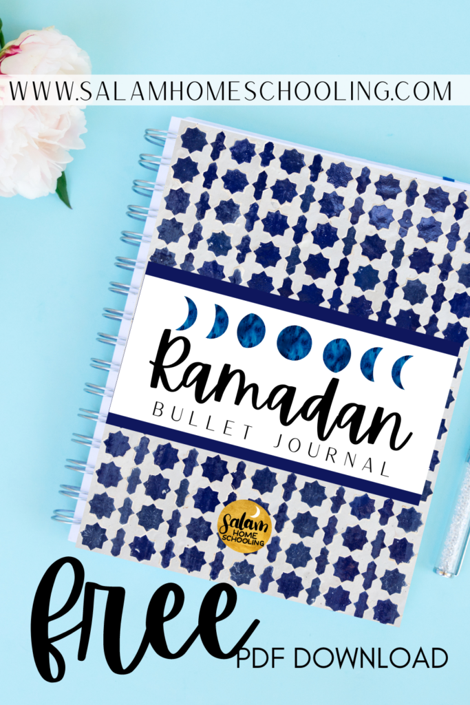 Muslim journal Islamic bujo Ramadan kids printable